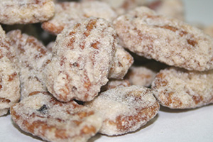 Praline Frosted Pecans - 12 oz Bag