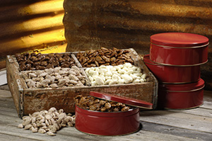 White Chocolate Pecans - 1 lb Tin